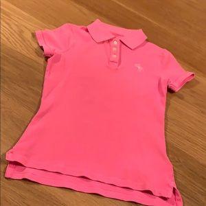 Neon Abercrombie Kids Size Medium Polo 👕 Age 9-12